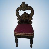 Beautiful Boulle Biedermeir Chair
