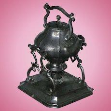 Rare Dollhouse  Gerlach Teapot with Warmer