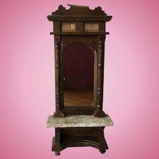 Wonderful German Dollhouse Hall Mirror