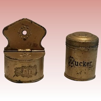 German Dollhouse Canister Set Early 1900