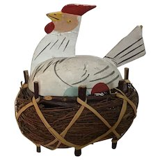 Fabulous German Candy Container  Chicken in the Basket