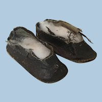 Wonderful Early Doll Shoes For Bisque Dolls