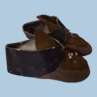 Early Doll Moccasin Shoes