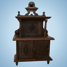 Fabulous German  Harrass Dollhouse or Doll Sideboard