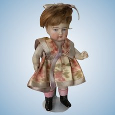 """Sweet 4"""" All Bisque Doll"""