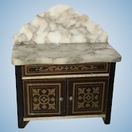 Biedermeir Boule Dollhouse Wash Stand