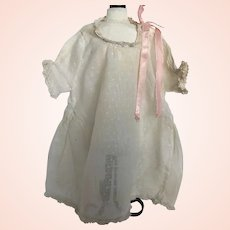 Sweet Antique Dotted Swiss Doll Dress