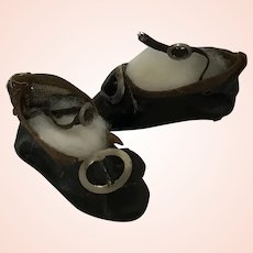 Sweet Small Leather German Doll Shoes