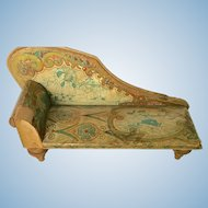 Fabulous Rare Bliss Dollhouse Chaise ca. 1901