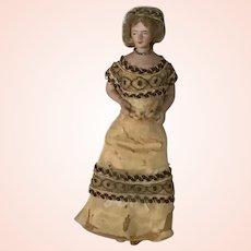 """Antique Bisque  German Dollhouse Lady 7"""""""