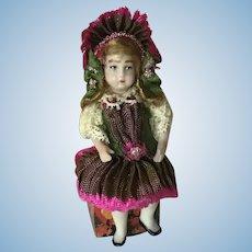 Sweet Tiny Artist Dollhouse Doll