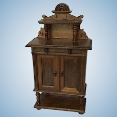 Early German Dollhouse Cabinet by Goldman ca.. 1880