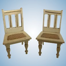 Gottschalk Dollhouse Kitchen Chairs