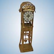 Fabulous Ormolu Dollhouse Floor Clock Erhard & Sohne