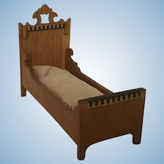 Wonderful German Dollhouse Bed