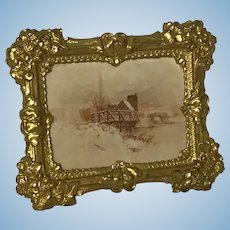 Fabulous Ormolu  Dollhouse Picture 19th Century