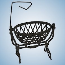 French Metal Swinging  Dollhouse Cradle