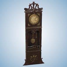 Wonderful Early German Metal Dollhouse Clock