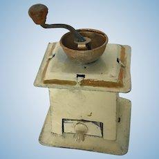 Wonderful Dollhouse German Tin Coffee Grinder ca. 1890