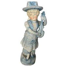 Sweet Bisque Girl Figurine Statue