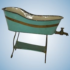 Antique  Marklin Tin doll Tub with Legs