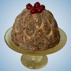 Fabulous Plum pudding for Antique Doll