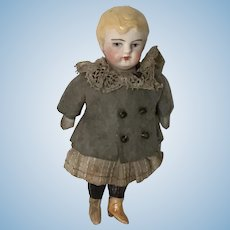 "Sweet 3"" All Bisque Antique Doll"