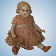 """Antique All Bisque Doll 4"""""""