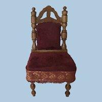 Beautiful German ca. 1890 Dollhouse Chair