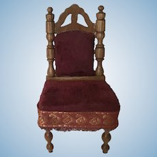 Beautiful German ca. 1890 Dollhouse Chair