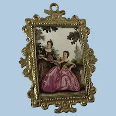 Beautiful Antique  Metal Dollhouse Picture