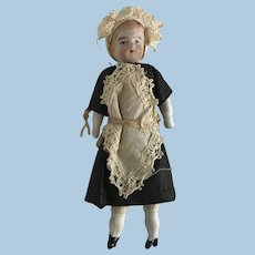 """Sweet Antique Bisque  4"""" Dollhouse Doll Maid"""