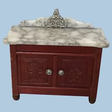 Antique Schneegas Red Stain Side Board