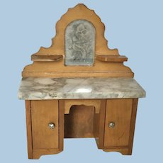 Antique Dollhouse Schneegas Vanity