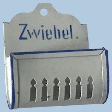 Antique German  Dollhouse Tin Towel Holder