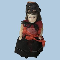 """Sweet Antique  4"""" All Bisque Doll"""