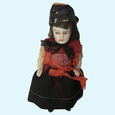 "Sweet Antique  4"" All Bisque Doll"