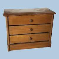 Beautiful Dollhouse German Chest of Drawers