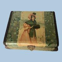 Beautiful Celluloid cuff/Jewelry Antique Box