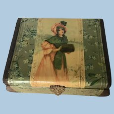 Beautiful Celluloid cuff/Jewelry Antique Box