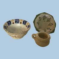 German Dollhouse Pottery Dishes