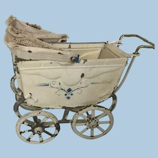 Antique Doll or Dollhouse Pram