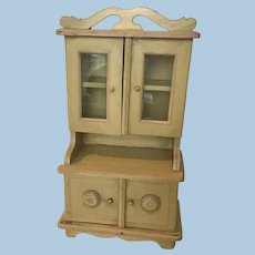 Fabulous Antique German Dollhouse  Kitchen Cupboard