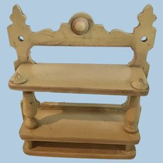 Early Antique Dollhouse German Wall Shelf