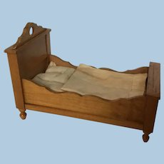 Lovely German Schneegas Dollhouse Bed