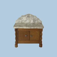 Antique Dollhouse Schneegas Wash Stand