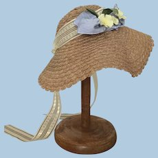Sweet  Old Straw Doll Hat
