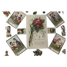 Sweet Victorian  Children Scrap Papers