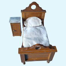 Wonderful  German Schneegas Bed and Night Stand