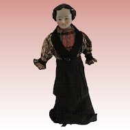 Antique Early China Head Doll With Wood Limbs 1880's - 1900